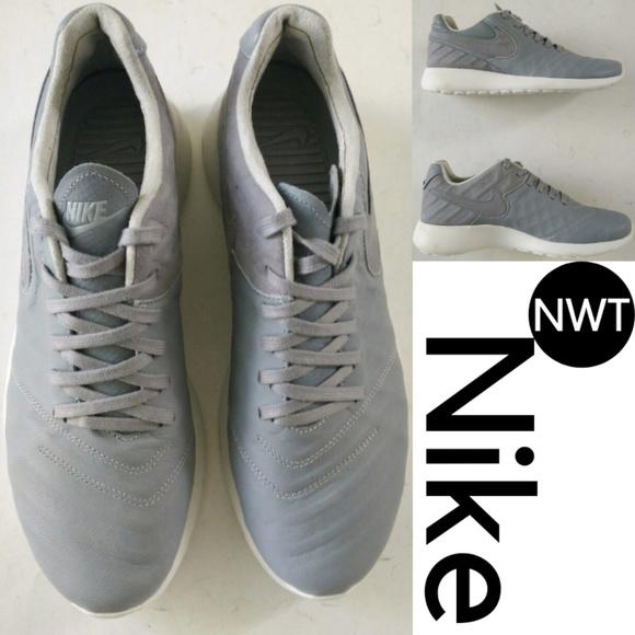 8fddffa1f7df Nike Roshe Tiempo VI QS Wolf Grey White Sneakers